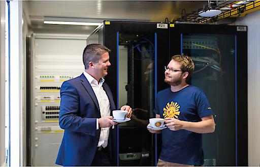 Modernste IT-Infrastruktur im Serverraum Container für SONNENTOR