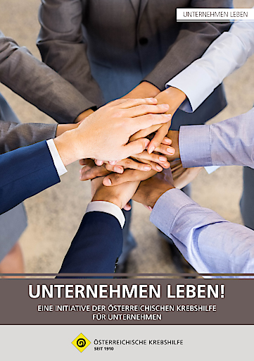 """Cover der Broschüre """"Unternehmen Leben!"""""""