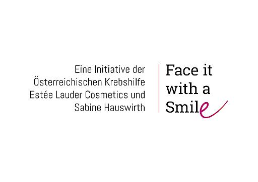 "Logo ""Face it with a Smile"" der Pink Ribbon Aktion"