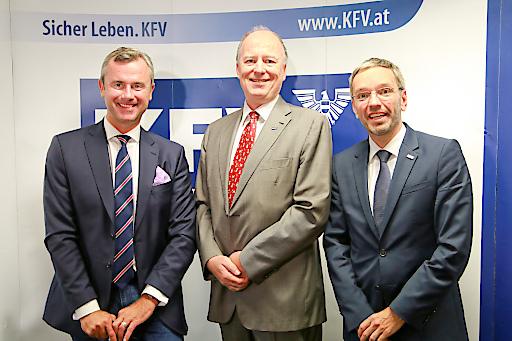 https://www.apa-fotoservice.at/galerie/15269 Im Bild v.l.n.r.: v.l.n.r.: Infrastrukturminister Norbert Hofer KFV-Direktor Dr. Thann und Innenminister Herbert Kickl.