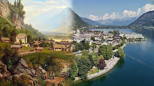 Historie und Gegenwart vereint in der neuen digitalen Stadtführung: Zell am See 1872 und heute
