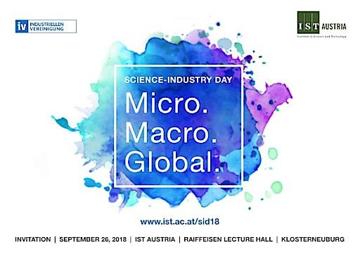 "Science-Industry Day heuer unter dem Motto ""Micro. Macro. Global."""