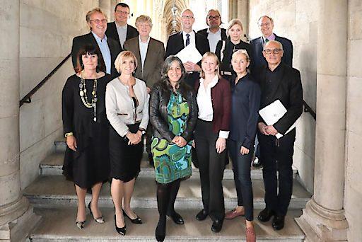 Der Fachbeirat für Stadtplanung und Stadtgestaltung mit Vizebürgermeisterin Maria Vassilakou