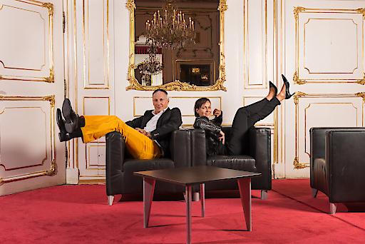 Sabine Jäger und Peter Syrch - die Veranstalter des Design District 1010.