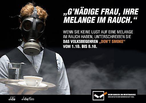 """Don't smoke: Gewerkschaft vida unterstützt Volksbegehren """"Kein Rauch im Wirtshaus"""" – Neue Kampagne für NichtraucherInnenschutz"""