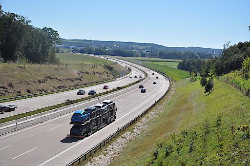 Ansicht der Autobahn A8