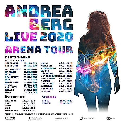 Artwork Andrea Berg LIVE 2020 ARENA TOUR