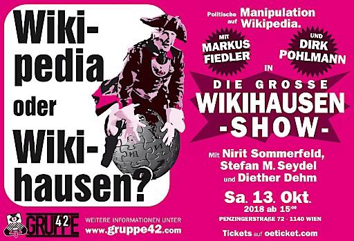 #WiWi18 die Konferenz in Wien über politische Manipulation auf der Wikipedia