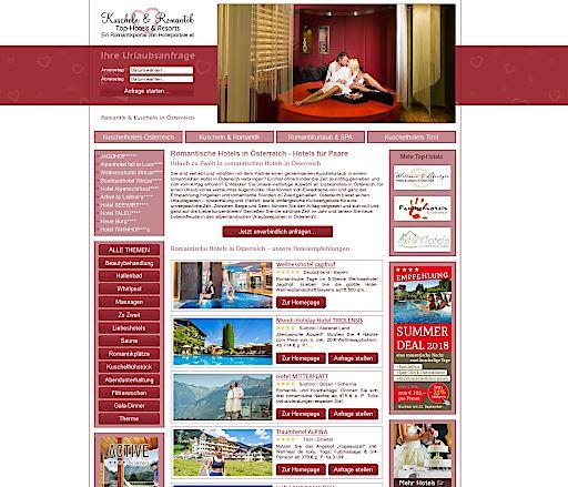 Kuscheln-Romantik.com - Hotelportal für Kuschelbetriebe und romantische Betriebe in Österreich, Deutschland und Südtirol