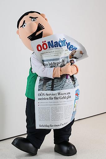 Nicht nur für OÖN-Original Vitus Mostdipf sind die OÖNachrichten die Lieblingszeitung.