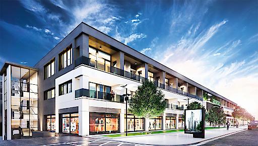 Gebäude Green Point Seitenansicht