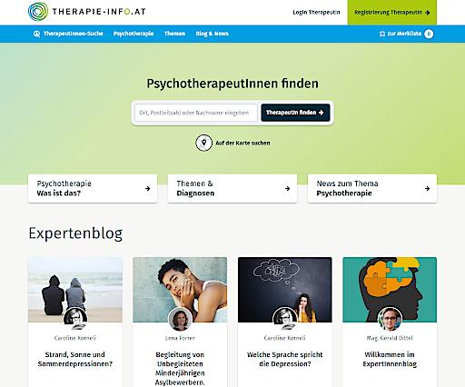 Ein neues Service- und Infoportal für Psychotherapie - www.therapie-info.at – wurde soeben gelauncht und weist ein modernes, umfassendes Verzeichnis von über 8.000 PsychotherapeutInnen in Österreich aus