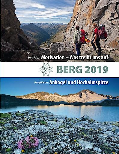 """Cover des Alpenvereinsjahrbuchs """"BERG 2019""""."""