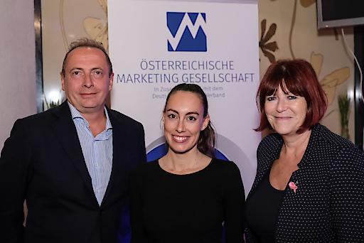 Christian Spath (ÖMG/mediasupport), Carina Roth (WisR), Gabriele Stanek (ÖMG/wienlive Zeitschriften)