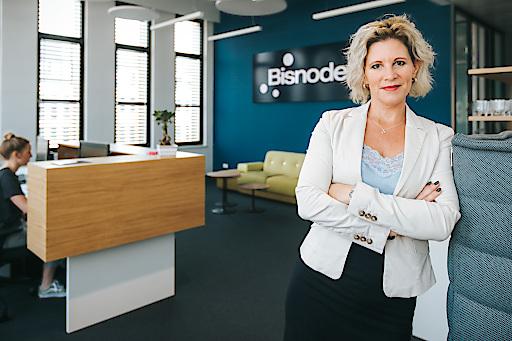 Alexandra Vetrovsky-Brychta, Managing Director Bisnode Österreich am neuen Standort