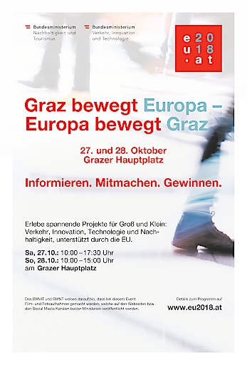 """""""Graz bewegt Europa – Europa bewegt Graz"""": Großes EU-Bürgerevent am Grazer Hauptplatz"""