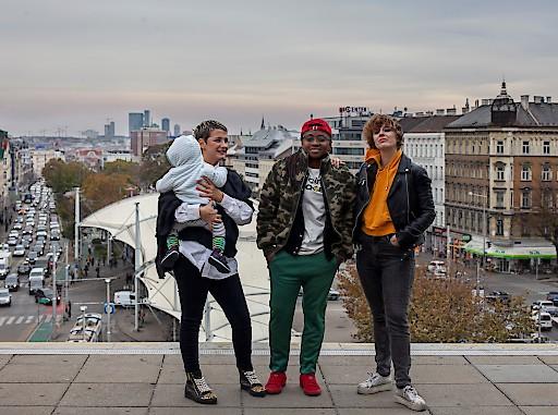 Leitungsteam WIENWOCHE 2019: Mirjana Djotunovic Mustra, Henrie Dennis, Natalie Ananda Assmann.