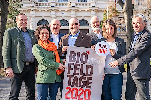 Präsentation des neuen Termins für die Biofeldtage am 5. und 6. Juni 2020 mit den neuen Partner BIO AUSTRIA und Universität für Bodenkultur Wien