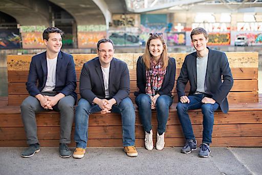 Team impactory: Philipp Keckeis, Emanuel Riccabona, Elke Pichler, Simon Vötter (vlnr)