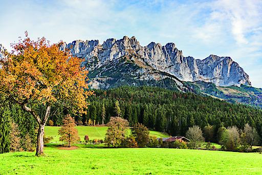 Kaiserlicher Herbst in der Region Wilder Kaiser