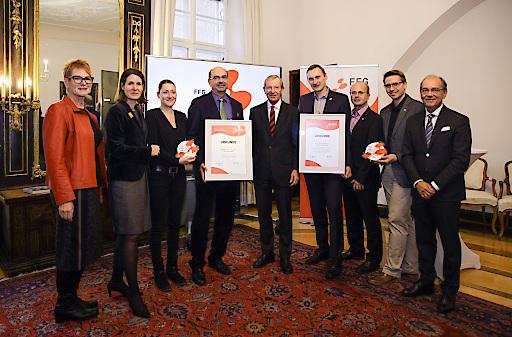 """Auszeichnung der Salzburger Landessieger im Rahmen der Initiative """"Arbeitsplätze durch Innovation"""" am 27.11.2018"""