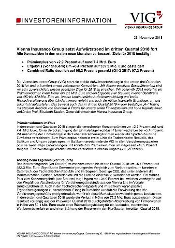 Pdf Eans News Vienna Insurance Group Setzt Aufwartstrend Im