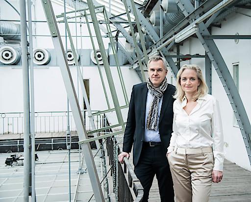 Christoph Thun-Hohenstein, Generaldirektor und wissenschaftlicher Geschäftsführer, und Teresa Mitterlehner-Marchesani, Wirtschaftliche Geschäftsführerin, MAK, 2017