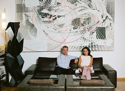 Martin Lenikus, Angela Akbari - Sammlungsleiterin der SAMMLUNG LENIKUS
