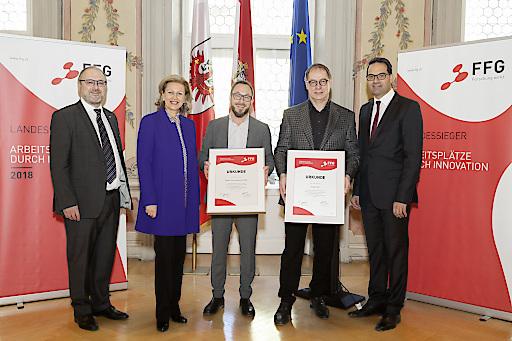 Auszeichnung der Landessieger Tirol 2018.