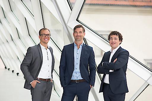 Die neue Management-Spitze des Linzer StartUps presono: COO Martin Behrens, CEO Lukas Keller und CTO Sebastian Gierlinger (v.li.)