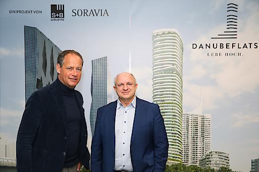 https://www.apa-fotoservice.at/galerie/17100 Im Bild v.l.n.r.: Erwin Soravia (CEO SORAVIA) und Wolfdieter Jarisch (Gesellschafter und Vorstand, S+B Gruppe AG)