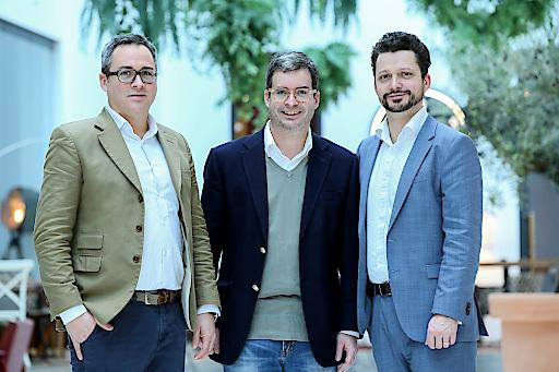 Paolo Cuturi, Gino Cuturi, Lorenz Cuturi (von links)
