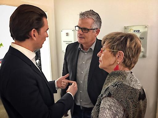 Wolfram Pirchner kandidiert für die Wahl zum Europaparlament als Vertreter der Seniorinnen und Senioren. Im Bild mit Bundeskanzler Sebastian Kurz und der Präsidentin des Österreichischen Seniorenbundes, Ingrid Korosec.