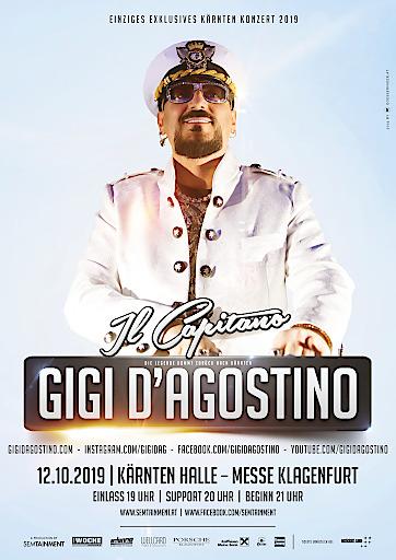 """Die DJ Legende """"GIGI D'AGOSTINO"""" kommt 2019 für ein exklusives Konzert nach Kärnten!"""