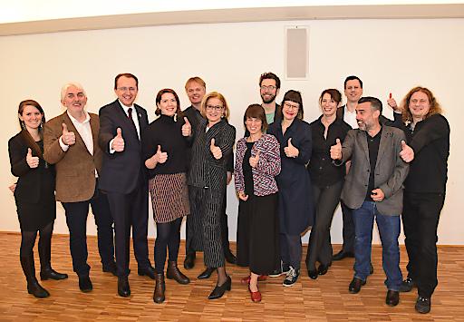 """Das Präsentations-Team der Bewerbung """"St. Pölten 2024"""""""