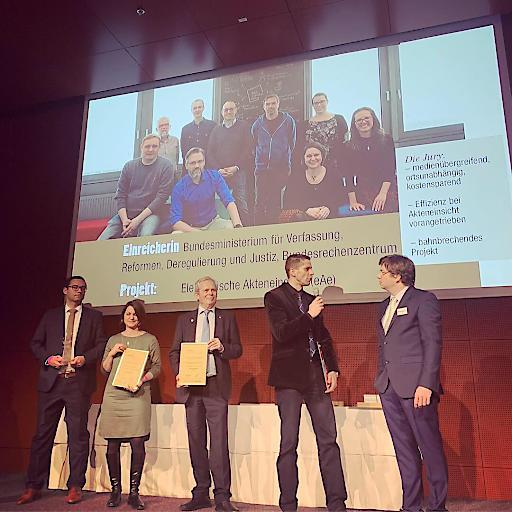 Verleihung der eAwards - Sieg für Justiz 3.0