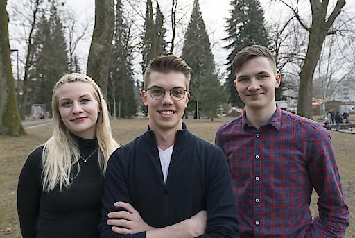 Listenplätze 1-3 JUNOS Studierende (Nino Rohrmoser, Carina Siegl und Jan Pieter Stering)