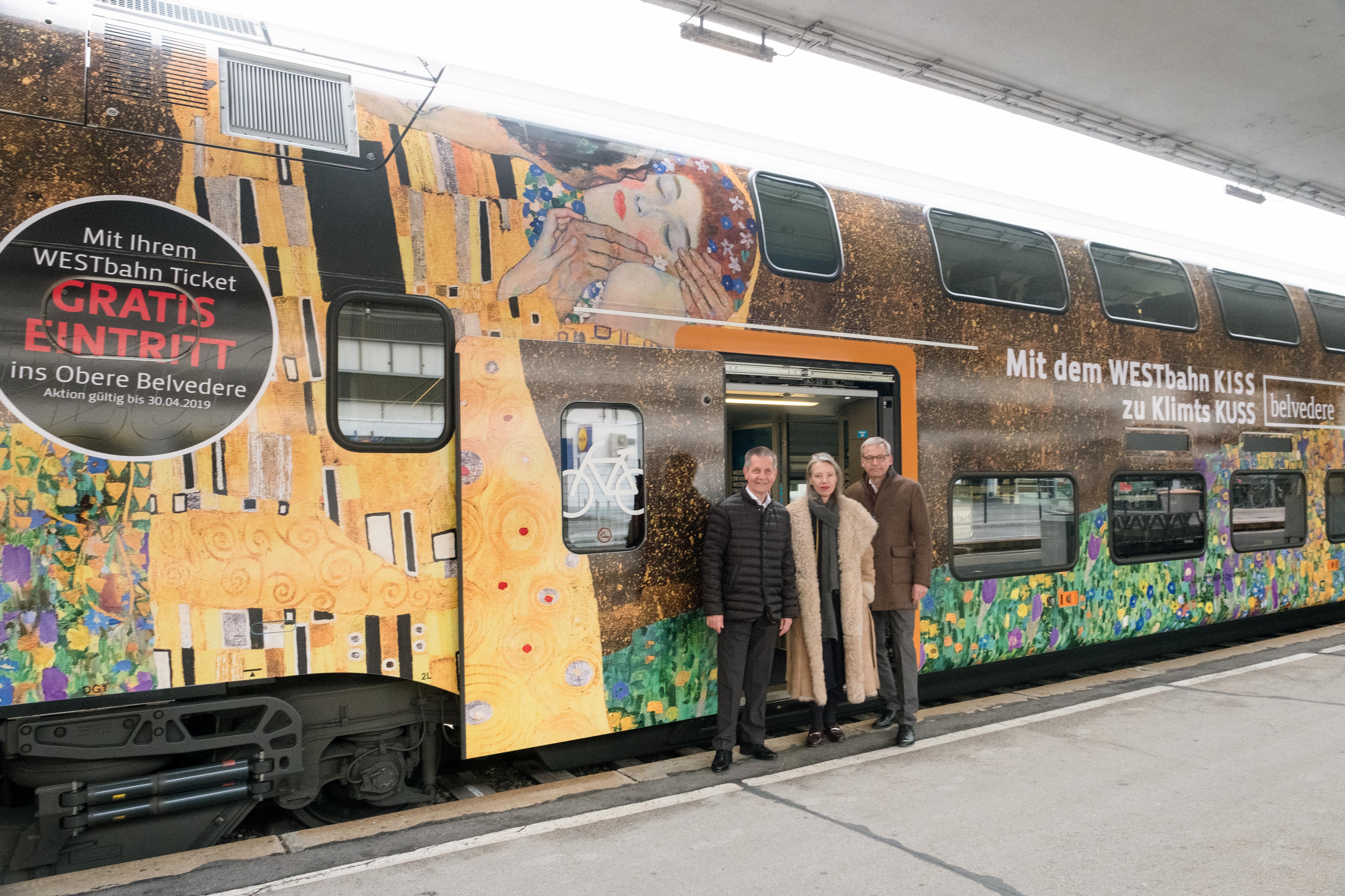 Belvedere Und Westbahn Der Zug Zum Kuss Belvedere 13022019