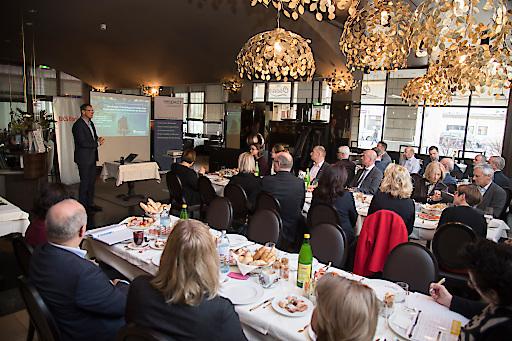 Head of Innovation Headquarter Borealis, DI Rudolf Wölfer, präsentiert Lösungsansätze der kreislauforientierten Plastikwirtschaft