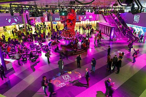 Eingangshalle Austria Center Vienna beim ECR