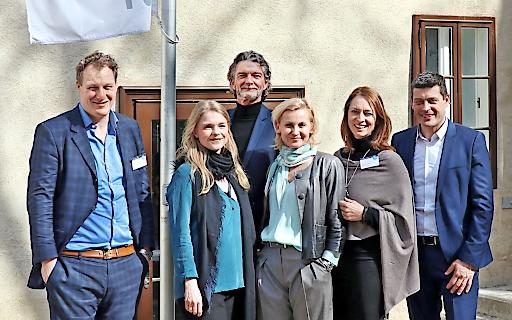 Große Freude über den erfolgreichen Start von sapiro: Gerhard Fehr (CEO FehrAdvice), Maresa Wolkenstein und Klement Cabana (Research & Development, sdo), Eva Maria Kubin (Geschäftsführerin SCC), Xenia Daum (Geschäftsführerin sdo), Alexis Johann (Geschäftsführer SCC und Managing Partner FehrAdvice).