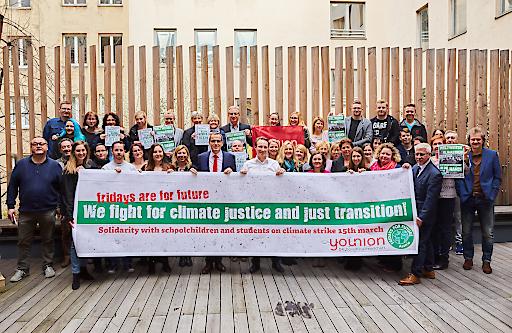 younion solidarisch mit SchülerInnen für Klimaschutz