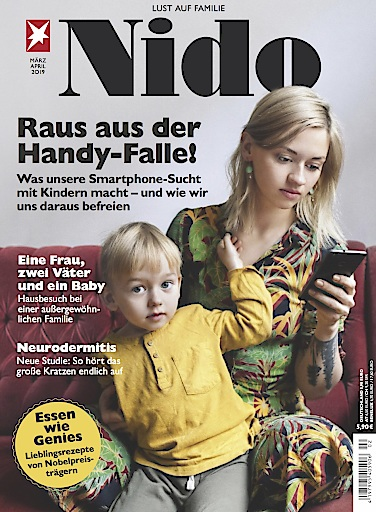 """Cover NIDO 02/2019 Weiterer Text über ots und www.presseportal.de/nr/102049 / Die Verwendung dieses Bildes ist für redaktionelle Zwecke honorarfrei. Veröffentlichung bitte unter Quellenangabe: """"obs/Gruner+Jahr, Nido"""""""