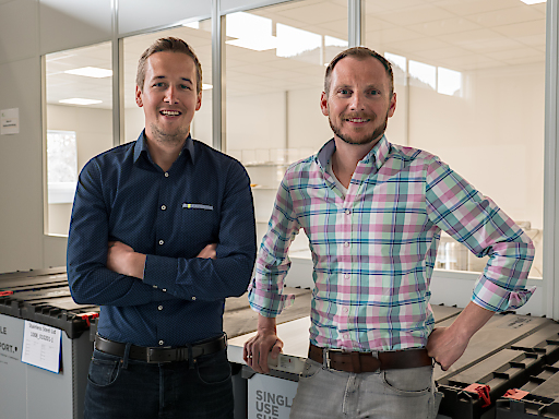 Single Use Support Gründer Thomas Wurm und Johannes Kirchmair
