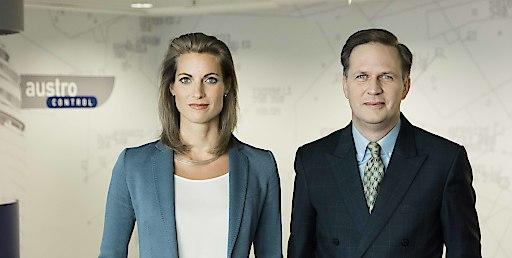 Austro Control-Geschäftsführer Valerie Hackl und Axel Schwarz