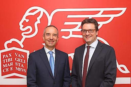 https://www.apa-fotoservice.at/galerie/17771 Generali Österreich CEO Alfred Leu und Generali Österreich CFO Klaus Wallner präsentieren ein nachhaltig gutes Geschäftsergebnis 2018.