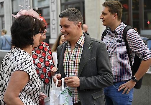 Sympathische Verteilaktion in der Wiener Innenstadt.
