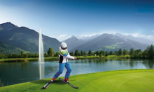 Besondere Kombination: Weltmeisterschaft im Riesentorlauf am Kitzsteinhorn und Golf im Golfclub Zell am See-Kaprun