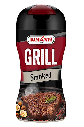 Kotányi GRILL Smoked mit Meersalz jodiert, Paprika geräuchert, Brauner Zucker, Knoblauch, Chilis, Rosmarin, Paprikagranulat, Pfeffer, Thymian und Mutterkümmel