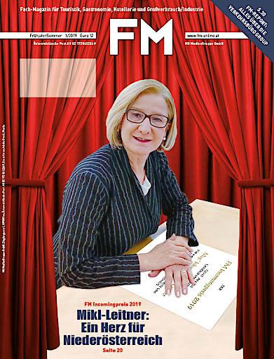 Cover FM 1/2019 Der FM Incomingpreis 2019 geht an Landeshauptfrau Johanna Mikl-Leitner